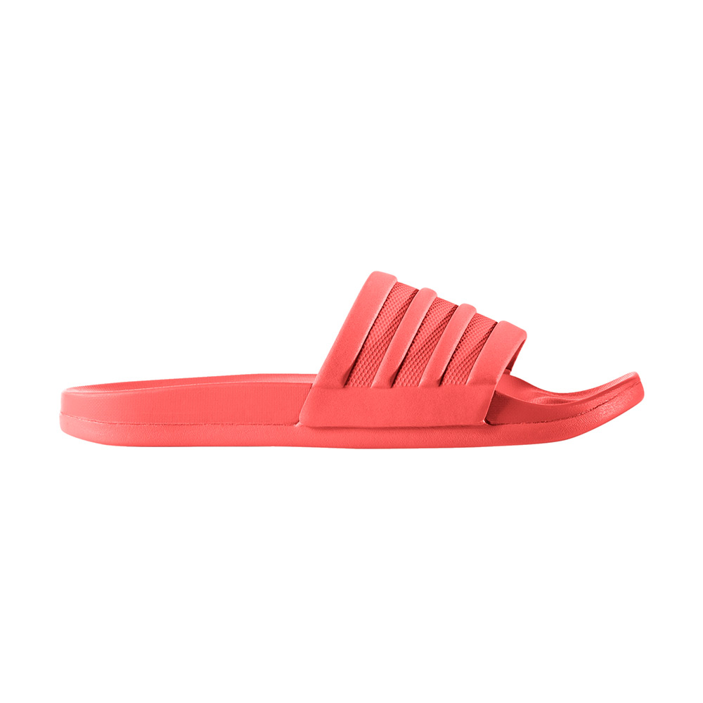 adidas Adilette Cloudfoam slippers dames koraal